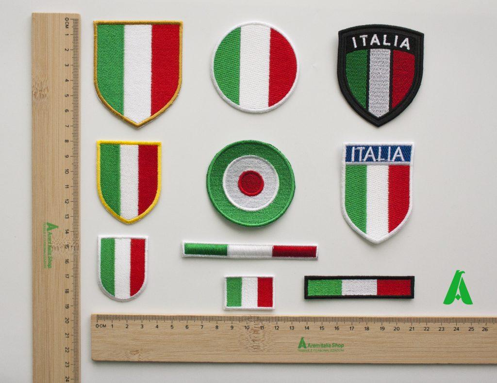 Patch toppe Italia ricamate